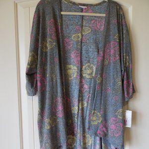 NWT LuLaRoe Lindsay Kimono Floral Cardigan Medium